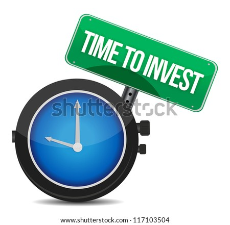 Time to invest concept illustration design over white