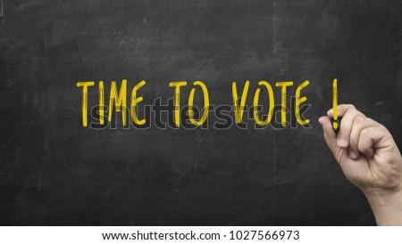 TIME TO VOTE Stock photo ©