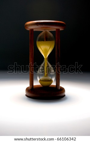 Time - Vintage hourglass.
