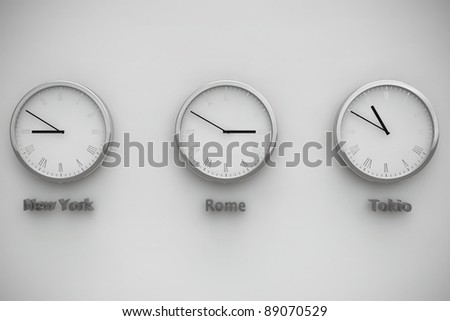 Time zone between NY, Rome and Tokio
