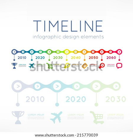 Timeline infographic element