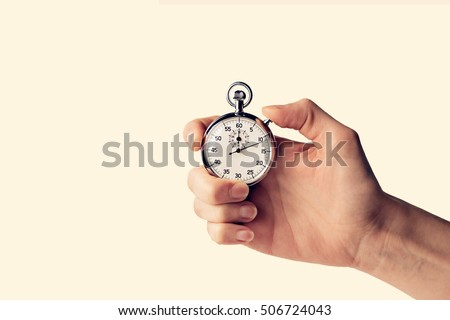 Photo of  timer held in hand