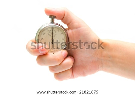 Timer in hand - stock photo