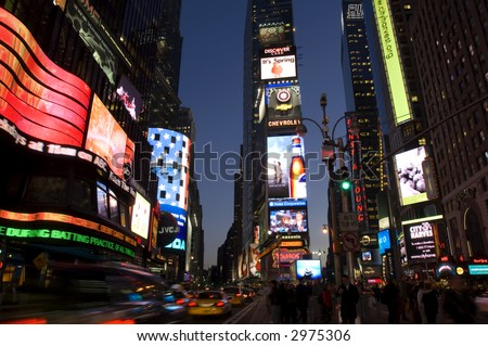 Times Square at night, New York City