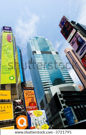 Times square in summer day