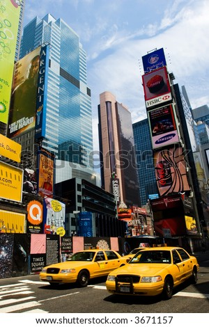 Times Square in summer, New York City