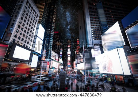 Times Square Manhattan New York all the ads deleted US #447830479