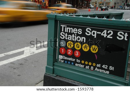 Times Square Subway Entrance