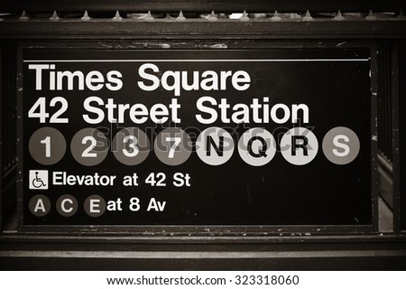 times square subway station...