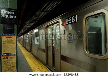 Times Square Subway Station, New York City - stock photo