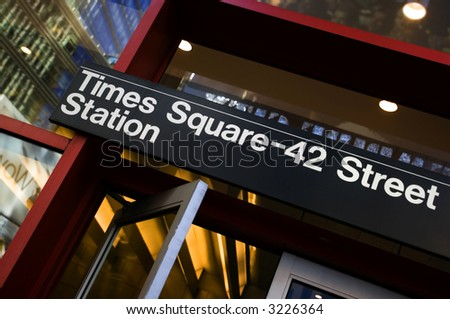Times Square Subway station sign, NYC