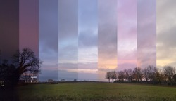 Timeslice Beautiful view on Geneva Lake, Morges Switzerland This is a timelapse photography.