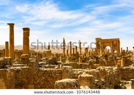 timgad  a roman berber city in...
