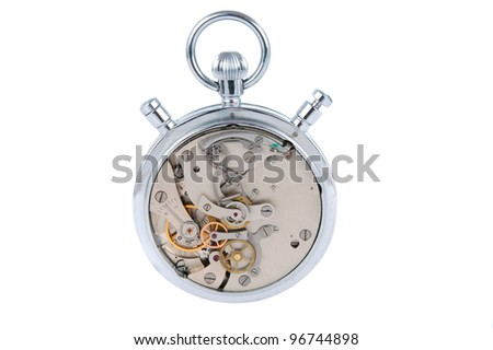 timing mechanism is isolated on a white background
