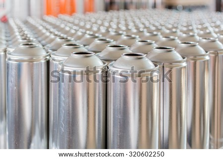 Tin blank tubes in rows