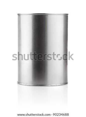 tin can with paint isolated on white background
