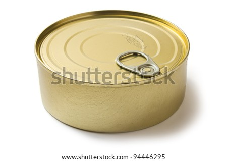 tin can with preserves isolated on white background