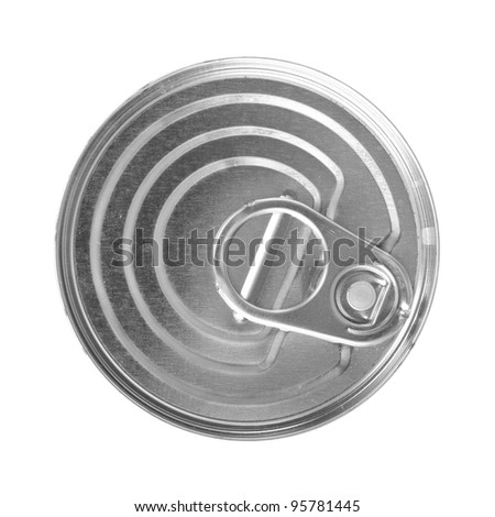 Tin food can isolated on white background