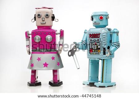 tin robots couple