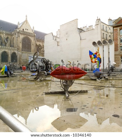 Tinguely fountain, Center of Modern Arts. Paris,January2008