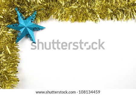 Tinsel and Star Christmas Decorations