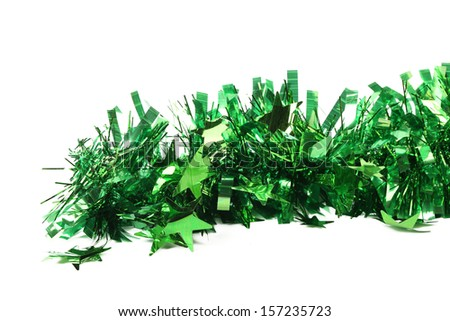 Tinsel. Christmas decoration. Isolated on a white background
