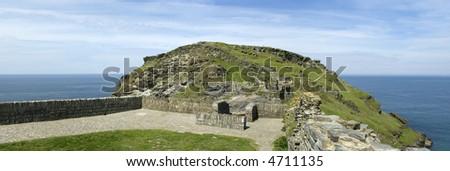 tintagel castle the cornish coast cornwall england uk