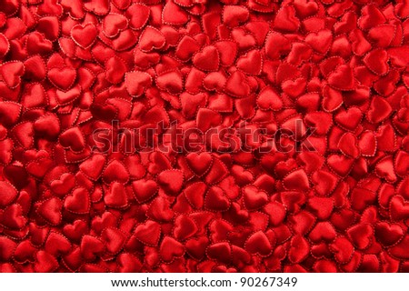 Tiny red hearts background