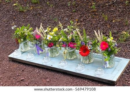 Sweet Little Flower Jars In The Sun Ez Canvas