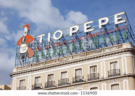 Tio Pepe At Puerta Del Sol Madrid Stock Photo 1536900