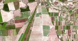 tipi,  allegory, tribute to Picasso, abstract photography of the Spain fields from the air, aerial view, representation of human labor camps, abstract, cubism, abstract naturalism,