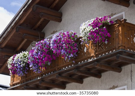 Tipical alpin balcony on summer