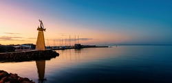 Tipical calm and quit sunrise in Nesebar during the late summer.