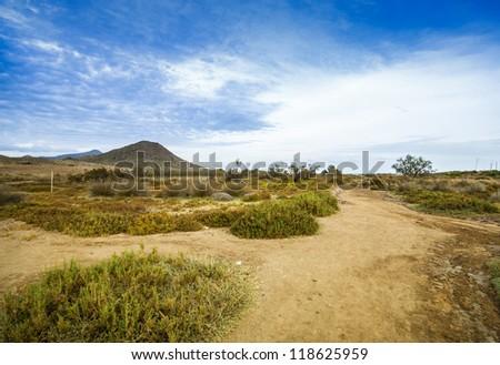 Tipical spanish landscape, Spain, Andalusia, Almeria
