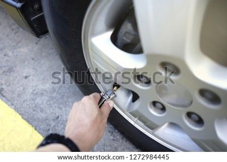 Tire/ Filling the tire For safety in driving and saving energy.                              #1272984445