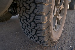 Tire on a 4x4 off road vehicle