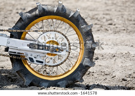 tire on motorcycle - paddle tire used on dirtbike for hillclimb