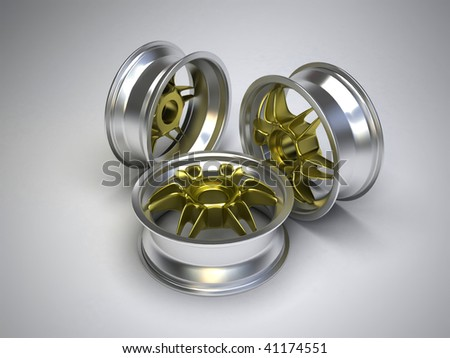 Tire Rims - stock photo