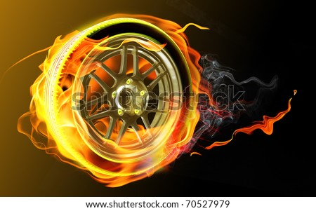 Tire with fire