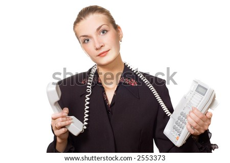 Tired phone operator