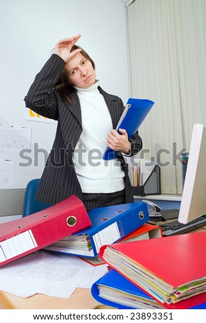 Tired the employee of office to which it still more many work