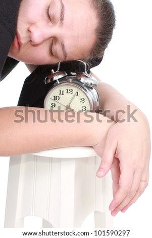 Tired woman