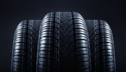 tires against black