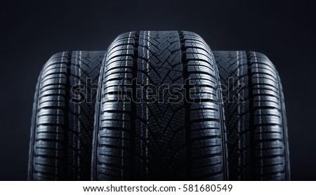 tires against black