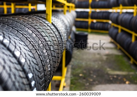 Tires for sale at a tire store #260039009