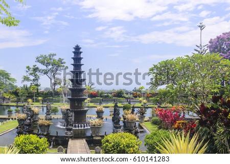 Tirta Ganga in Bali travel and architecture background #610141283