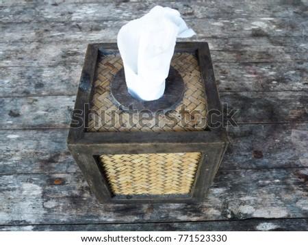 tissue decorate housevintage