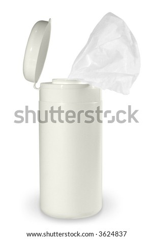 Tissue destinated for computers screen cleaning. (with clipping path)