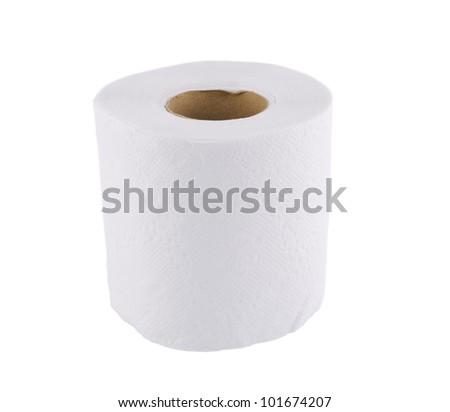 Tissue on white background