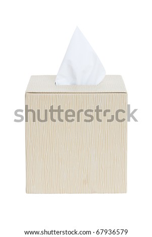 tissue paper box isolated on white